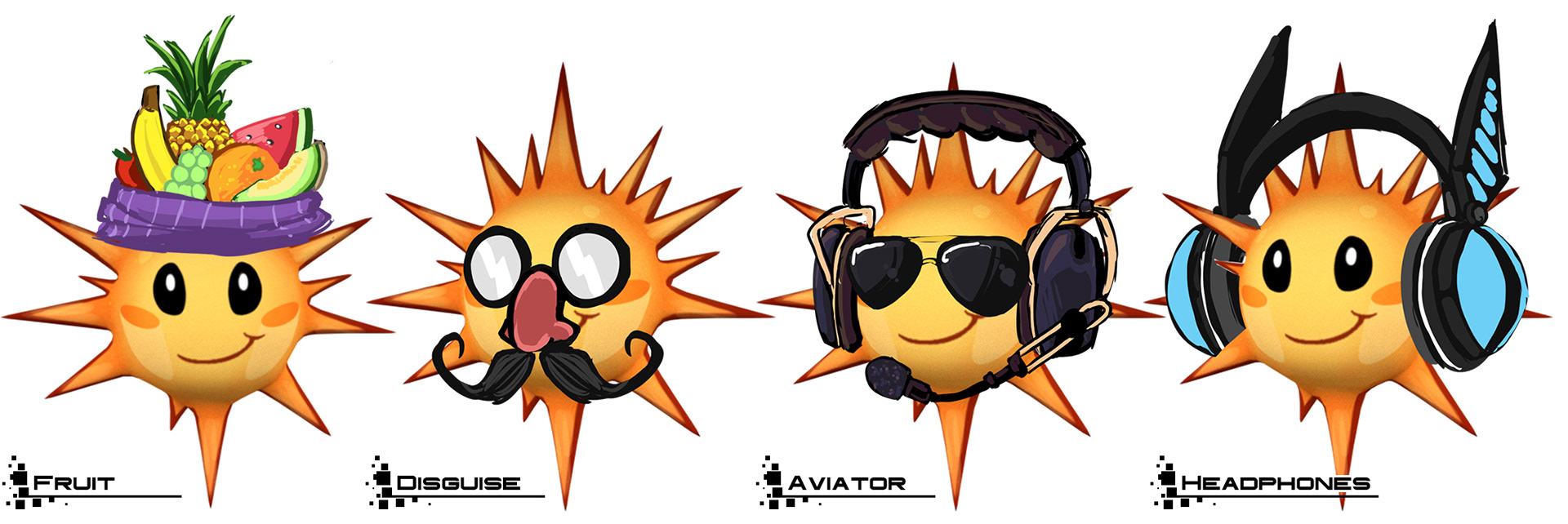 Battery Boy Sun Fruit Dsiguise Aviator and Headphones